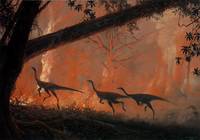 Struthiomimus and Fire